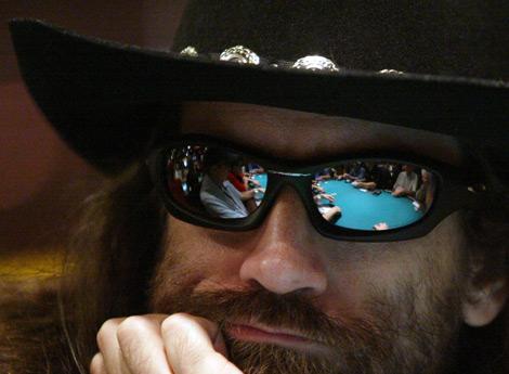 Poker Player with Sunglasses